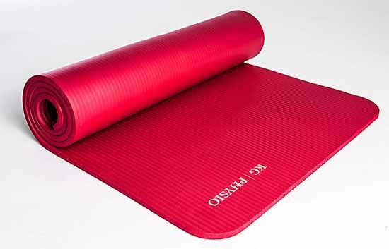 les rainures du Tapis de yoga KG Physio évite de glisser sur le tapis