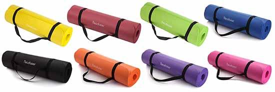 les différents coloris du Readaeer Tapis de Yoga/Fitness