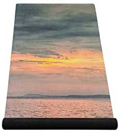 Couché de soleil imprimé sur le tapis de yoga COMBO MAT