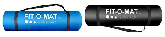 Présentation du Tapis de yoga epais de plus d'1 Cm le noir et le bleu