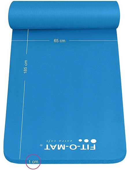 Dimension de cet épais tapis de yoga qui peut également servir en tapis pour pialates