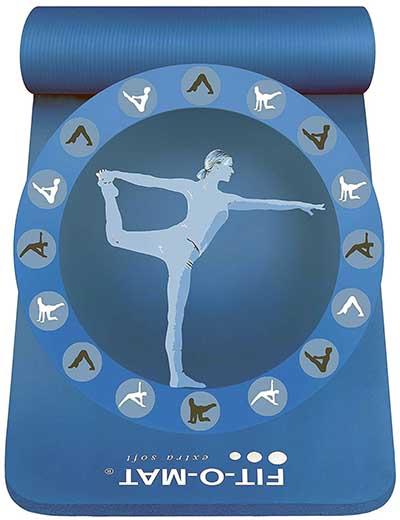 Ce tapis de yoga épais permet d'être utiliser pour le yoga, mais également pour le camping!