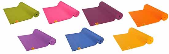 Les différents coloris disponibles pour le tapis de yoga confort de la marque chinMudra